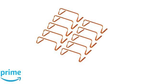 Kosma Pack of 10 Agility Hurdles Multi-Sport Speed Training Aid Colour Size 9 Inch Orange
