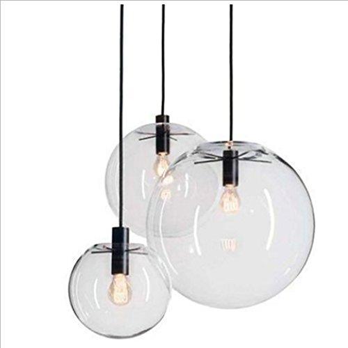LXSEHN Moderner Minimalistischer Transparenter Glaskugel-Entwerferleuchter, Korridorwohnzimmer-Restaurantgeschäft-Schlafzimmerstudie Dekoration Hängender Leuchter Pendelleuchte Lampenlaternen ( Farbe : Schwarz-250mm ) (Park Anhänger 5 Licht)