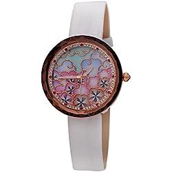 Luxus Lady Watch Mode Leder Gürtel Frauen sehen , white