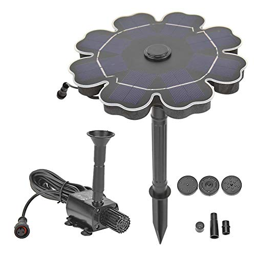 Advantages: 1. With 3m/9.84ft connection cable in the middle, the solar panel can work normally even if there is no sun in the position of the sprinkler. 2. 2.5W Solar Fountain: Larger and more efficient solar battery ensure that the fountain can wor...