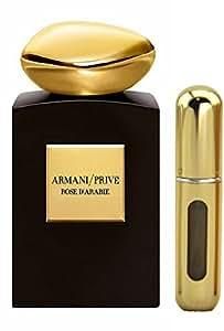 Armani rose d'arabie Eau de Parfum pour homme/femme en flacon vaporisateur 5 ml (parfum authentique 100% décanté)