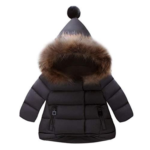 Giacche Piumino Classico Ultra Leggero del Cappotto Parka Zipper Invernale per Unisex Bambine E Bambino Giacca Cappuccio Abbigliamento Bambino Cotone