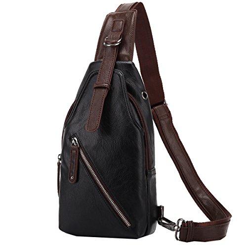 Yy.f Männer Schulter Umhängetasche Eine Kleine Brusttasche Männliche Koreanische Handtasche Rucksack Outdoor-Sport-und Freizeitreiten Männlich Brusttasche Multicolor Black
