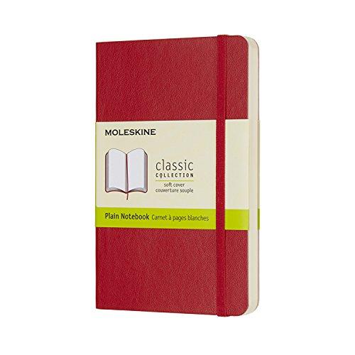 Moleskine Notizbuch, Pocket, A6, Blanko, Soft Cover, Scharlachrot