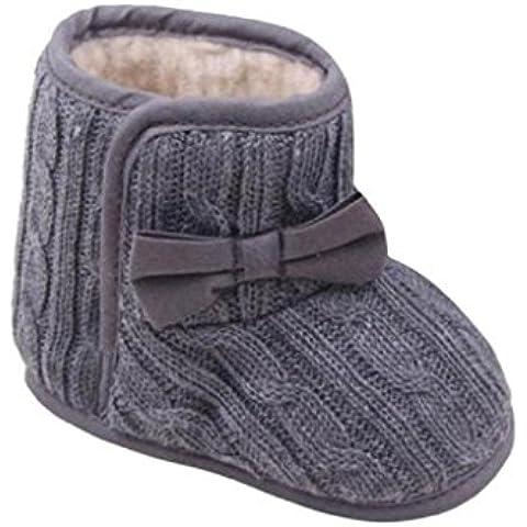 Ularma Bambino Di Bowknot Morbido Unico Invernali Scarpe Calde