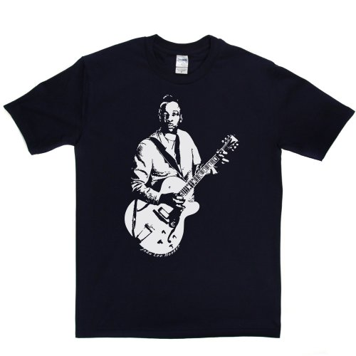 John Lee Hooker American Delta Blues Singer T-shirt Marineblau