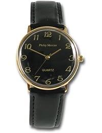 Philip Mercier SML23/C - Reloj de caballero de cuarzo color negro
