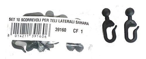 I GIARDINI 39160 Scorrevoli plastica per Gazebo Sahara Nero