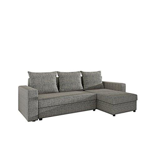 Mirjan24  Ecksofa Top Lux! Sofa Eckcouch Couch! mit Schlaffunktion und Zwei Bettkasten! Ottomane Universal, L-Form Couch Schlafsofa Bettsofa Farbauswahl (Lawa 05)