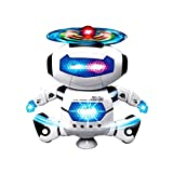 #4: Fun Dancing Robot Electronic Toys with Music Lightening Toys Gift for Kids Children