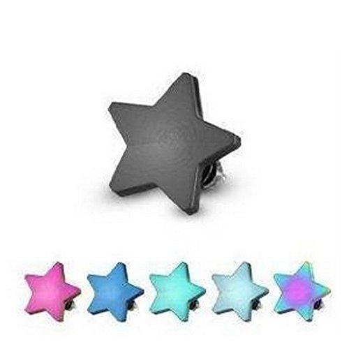 Piercing dermal étoile 4mm Bleu Taille 1,6 mm x 4 mm