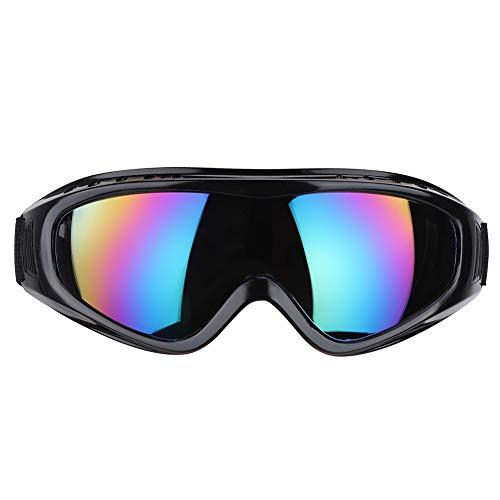 Qinlorgo Schutzbrille gegen Spritzwasser Anti-Sand-Schutzbrille(Bunte Linse)