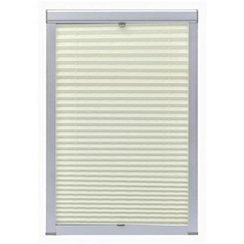 Festnight tenda finestra plissettata oscurante bianca/crema