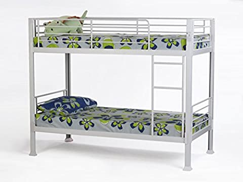 White Bunk Bed - 3ft single metal bunkbed - Can
