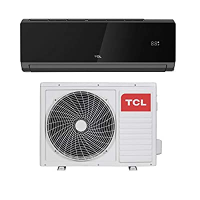 TCL 24000 BTU Black WiFi Smart A++ Easy-fit DC Inverter Wall Split Air Conditioner with 5 Meters Pipe kit