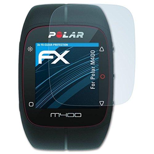 atFoliX Schutzfolie kompatibel mit Polar M400 Folie, ultraklare FX Bildschirmschutzfolie (3X)