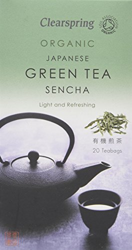 Clearspring Sencha Green Tea Bags (Pack of 6, Total 120 Teabags)