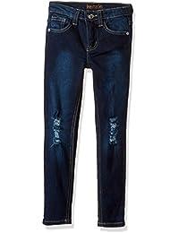 Kensie Girls' Darkest Blue Wash Skinny Fit Denim Jeans