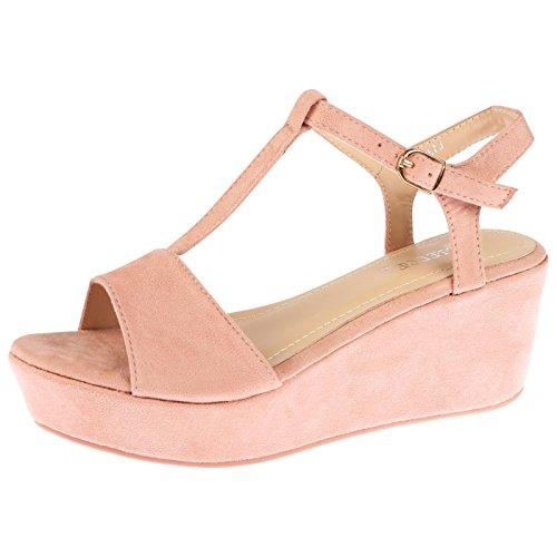 ByPublicDemand Moana Mujer Zapato de Cuña De Plataforma sandalias - R