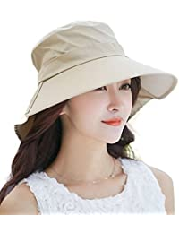 39aa2a31daad4 Siggi Summer Ladies UPF 50 Sun Hats Women Wide Brim Packable Neck  Protection Chin Strap