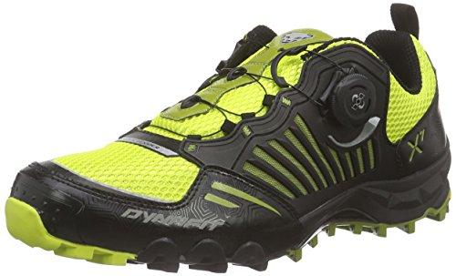 DynafitMS FELINE X7 - Scarpe da Trail Running Uomo , Nero (Schwarz (Black/Citro 0924)), 44