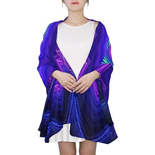Abstrakte schöne Kaleidoskop einzigartige Mode Schal für Frauen Lightweight Fashion Herbst Winter Print Schals Schal Wraps Geschenke für den frühen Frühling -