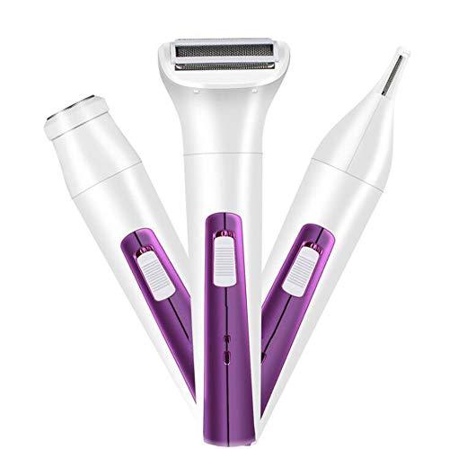 Sunshine 3-In-1 Elektrorasierer Epilator Waschen Augenbrauen Messer Damen Rasiermesser Body Rasiermaschine Home,Purple Damen-messer