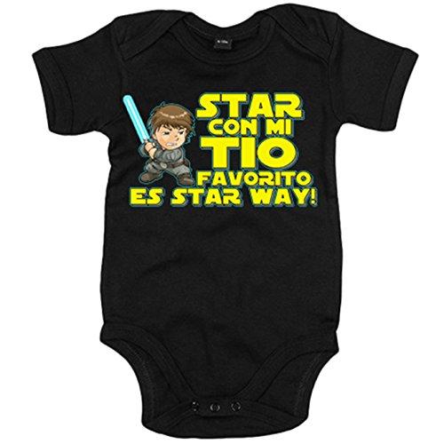 Body bebé Star Wars Star con mi tio favorito es Star Way Luke Skywalk