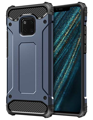 Coolden Huawei Mate 20 Pro Hülle,Premium [Armor Series] Outdoor Stoßfest Handyhülle Silikon TPU + PC Bumper Cover Doppelschichter Schutz Hülle für Huawei Mate 20 Pro (Blau)