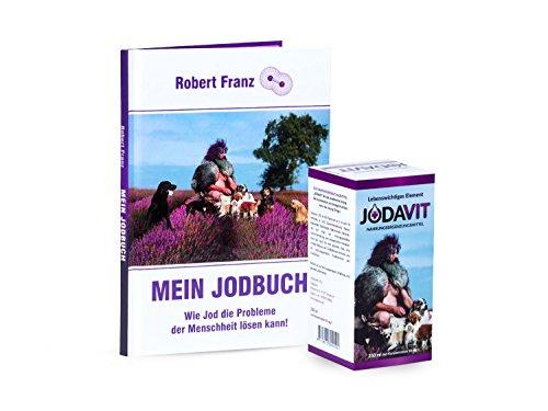"""Robert Franz - Jodavit 250ml (Jod-Konzentration 30mg/l) und Buch: """"Mein Jodbuch"""" von Robert Franz"""
