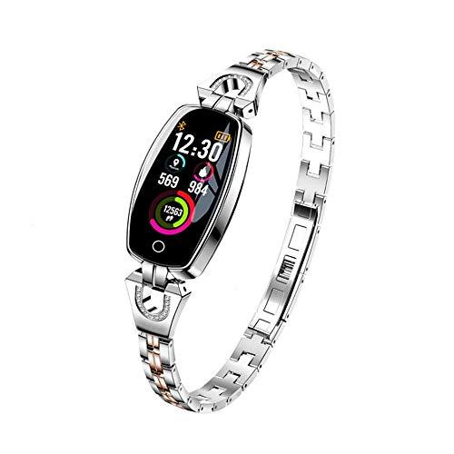 LLLS Fitness Tracker, Smart Watch con cardiofrequenzimetro monitoraggio attività Impermeabile sensibile Touch Screen Calorie contatore