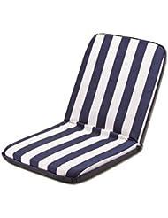 Doble cojín acolchado reclinable blanco y azul impermeable