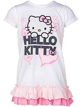 Hello Kitty T-Shirt Kleid, Original Lizenzware, weiß, Gr. 92/98 -128/134