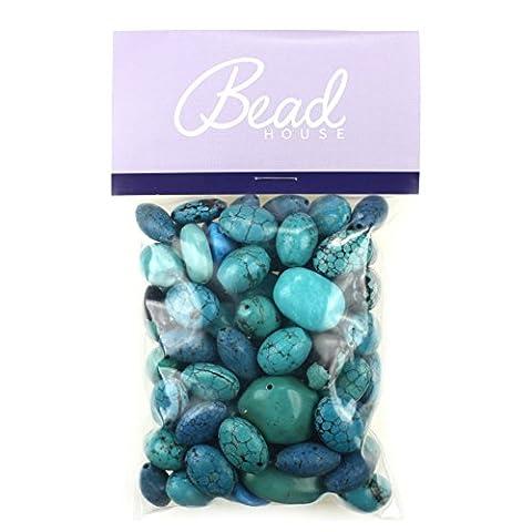 Bead House 250 g Taille moyenne Perle Imitation Turquoise