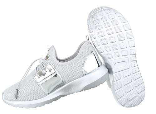 Damen Freizeitschuhe Schuhe Sportschuhe Turnschuhe Sneaker Laufschuhe Schwarz Grau Pink Weiß 36 37 38 39 40 41 Grau