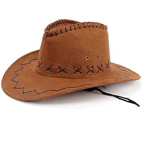 HMILYDYK Wild Brim Sombrero Vaquero Disfraz Accesorio País occidental Rancher