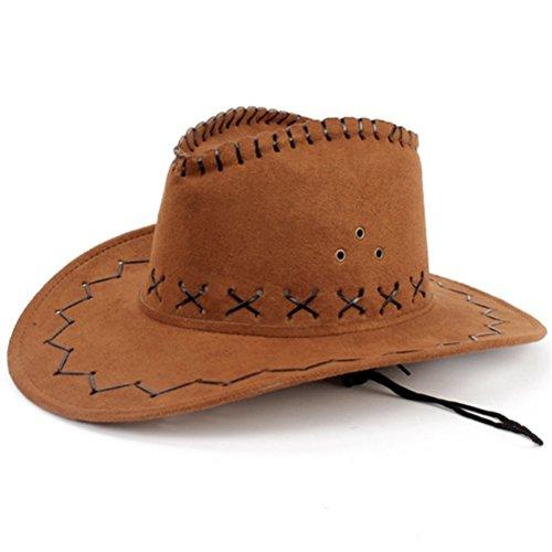 hmilydyk Cowboy Hat Fancy Dress Zubehör Breite Krempe Stetson Cowgirl Hüte Wild (Zubehör Kostüme Cowboy Hut)
