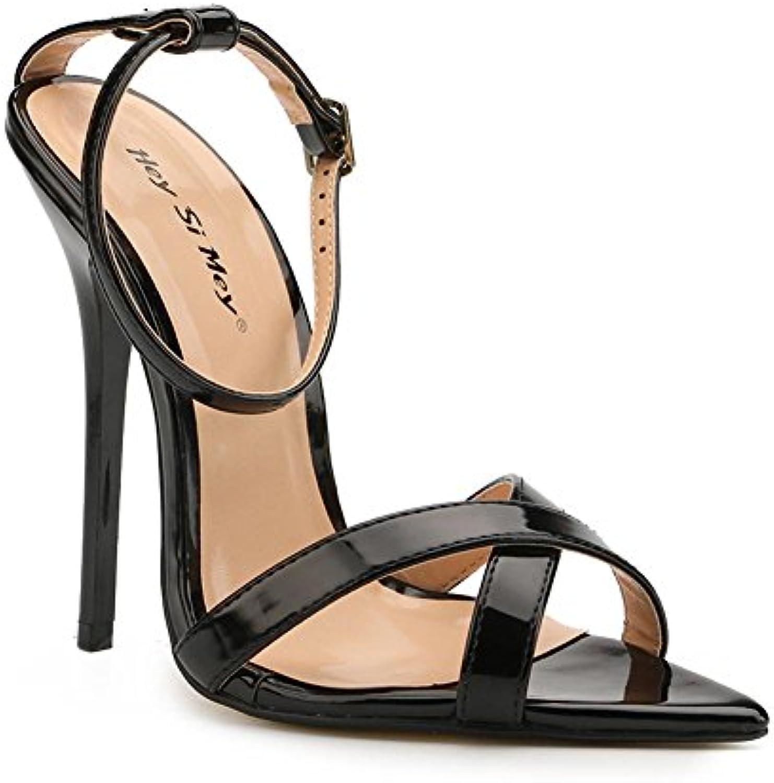 L@YC Sandalias de Tacón Alto Para Mujer Summer Comfort PU Vestido de Noche y Fiesta de Boda Stiletto -