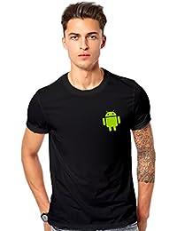 T Shirt - Android Logo Printed T-shirt - Android Graphics T Shirt - Android Black Printed T Shirt - Black