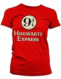HARRY POTTER Oficialmente Licenciado Hogwarts Express Platform 9-3 4 Mujer  Camiseta ac98a42a3dea1