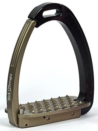 Tech Stirrups Steigbügel Springen Venice, Farbe:dunkelgrün/schwarz