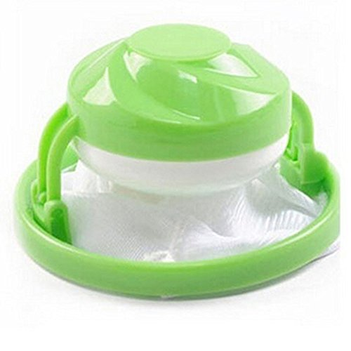 Waschmaschinen-Fusselfilterbeutel für Haare, schwimmender Ballbeutel, rosa
