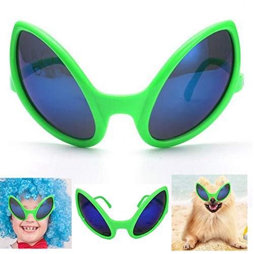 Hete-supply 12 Stück lustige Alien Brille, Halloween-Partys Prom Party Urlaub Alternative Brille Leistung Prop, Haustier Sonnenbrille grün