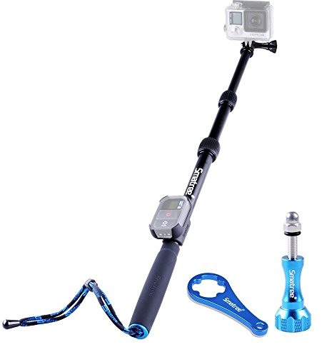 Smatree S2 All-aluminum Alloy Telescopic Pole for GoPro Hero Action Camera/GoPro Fusion/Hero 6/5/4/3+/3/2/1/Session