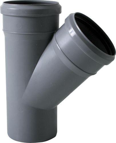 HT Rohr Abwasserrohr Formstücke Abwasser Installation DN 40, 50, 70, 90, 100 Auswahl 42. Einfach-Abzweig DN40x40 45°