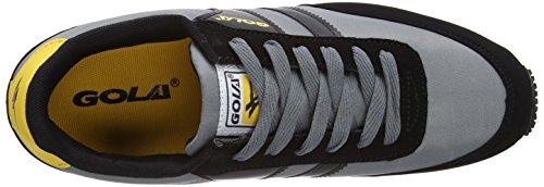 Gola Renew Nylon, Baskets Basses homme Noir - Schwarz (Black/Grey/Yellow)