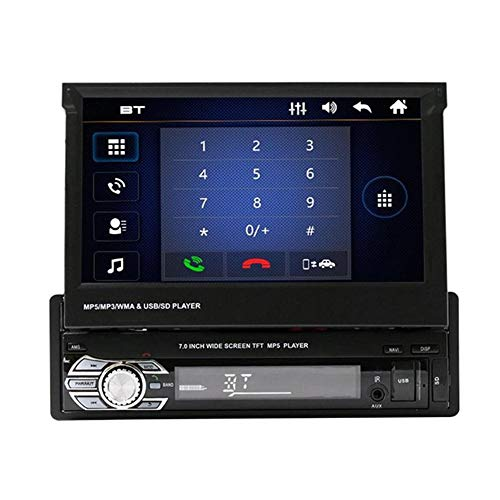 Autoradio 1 Din, Leegoal Singola autoradio DIN con Schermo 7 Pollici HD Touch Screen Bluetooth MP5 Lettore con Radio USB/TF/AUX + Mappa, Adatto per Tutte le Auto