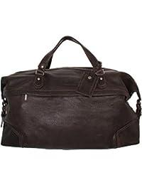 Réal Cuir Cognac Roues Holdall Duffle Gym Bagages De Cabine Voyage Weekend Bag Pete jcpIpNZrH