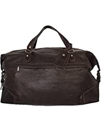 Réal Cuir Cognac Roues Holdall Duffle Gym Bagages De Cabine Voyage Weekend Bag Pete