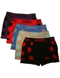 Uomo Pack de 4 calzoncillos para niño, alta calidad, varios colores y modelos, microfibra